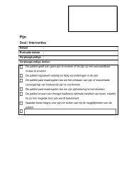Doel / Interventies - Oncoline