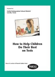 How to Help Children Do Their Best on Tests - United Independent ...