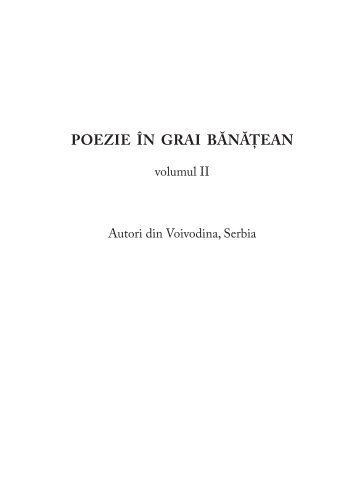 Poezie in grai banatean, vol. 2 - Brancusi