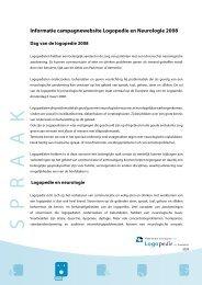 Informatie campagnewebsite Logopedie en Neurologie - Logopedie.nl