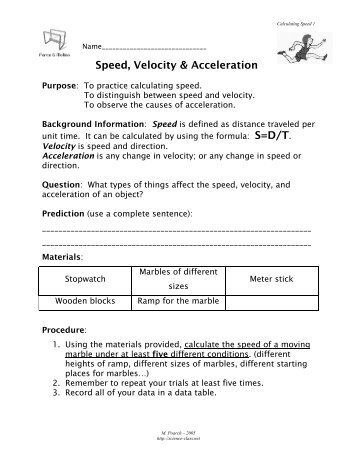 Teks 86b Speed Velocity And Acceleration