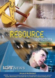 September 2011 - Managers Resource Directory - Local ...