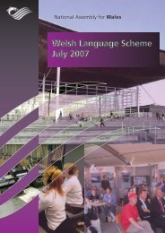 Welsh Language Scheme - National Assembly for Wales
