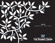2010 Annual Report - The Women's Center of Tarrant County