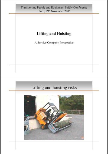 Lifting and hoisting risks