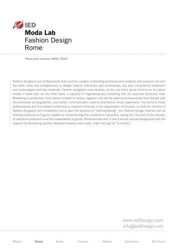 IED Moda Lab Fashion Design Rome - IED - Fashion schools and ...