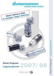 DC Gear Motors / Gleichstrommotoren mit Getriebe - Dunkermotoren