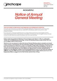 Notice of AGM - Inchcape