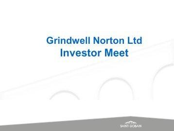 Presentation – Investor Meet - Grindwell Norton