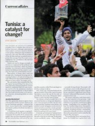 Tunisia: a catalyst for change? - middleeastresources - home