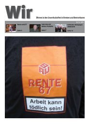 Seniorenzeitung WIR (14/2010) - Arbeit und Leben Bremen eV