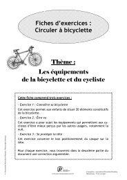 Les équipements de la bicyclette - Association Prévention Routière