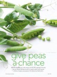 Give peas a chance - Kimberly Gillan