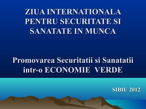 ZIUA INTERNATIONALA PENTRU SECURITATE SI ... - ITM Sibiu
