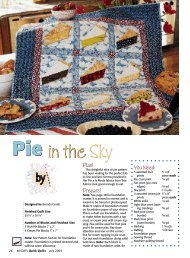 Pie in the in the Sky - McCalls Quilting