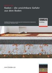 Radon – die unsichtbare Gefahr aus dem Boden - Foamglas