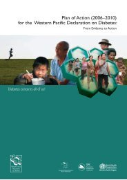 Plan of Action for the Western Pacific Declaration on Diabetes 2006