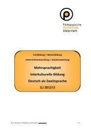 Mehrsprachigkeit Interkulturelle Bildung Deutsch als Zweitsprache