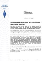 Neues analoges Relais Pilatus - UHF-Gruppe der USKA