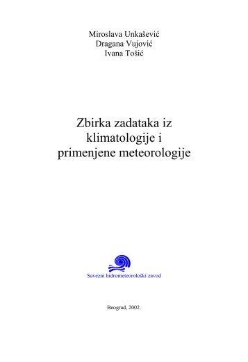 Zbirka zadataka iz klimatologije i primenjene meteorologije