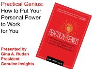 Practical Genius: How to Put Your Personal Power to Work for You