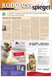 8. PETVET · Kleintiertagung des BPT LV Baden-Württemberg mit ...