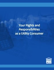 Rights and Responsibilities - Pennsylvania Public Utility Commission