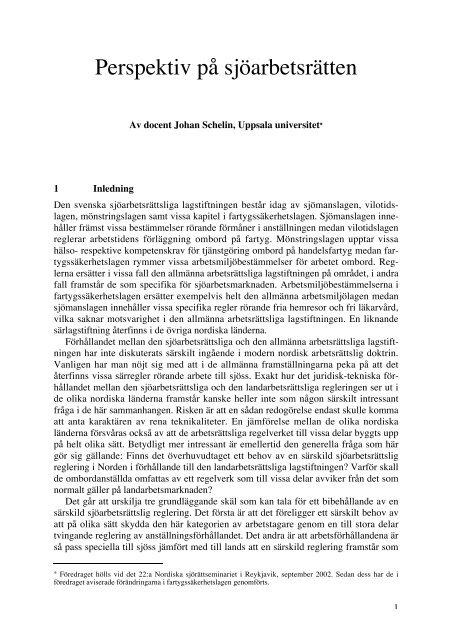 Perspektiv på sjöarbetsrätten - Juridicum