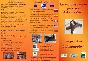 Saucisson d'Auvergne - Inra