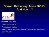 Steroid Refractory Acute GVHD - CBMTG