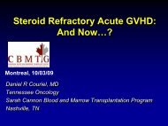 Steroid Refractory Acute GVHD - CBMTG