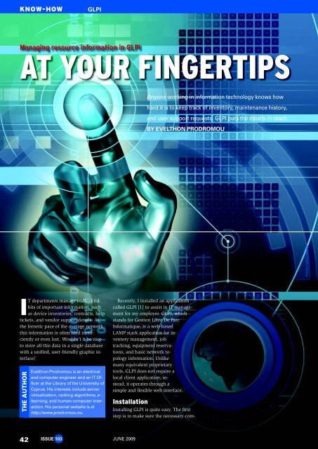 AT YOUR FINGERTIPS - Linux Magazine