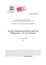 The Role of education in driving conflict and ... - unesdoc - Unesco