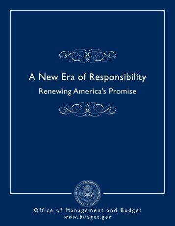 A New Era of Responsibility - The White House