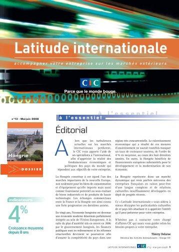 Latitude Internationale n°13 - CIC