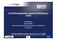On HPC application-oriented scheduling in a Grid - CoreGRID ...