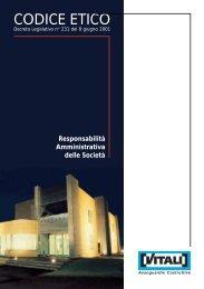 CODICE ETICO in pdf. - Vitali Spa