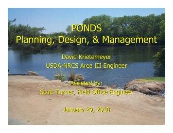 PONDS Planning, Design, & Management - Mariposa County