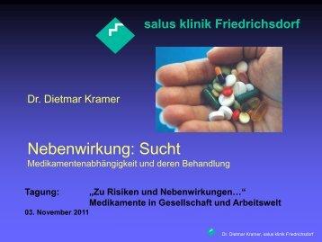 Nebenwirkung: Sucht - salus kliniken GmbH