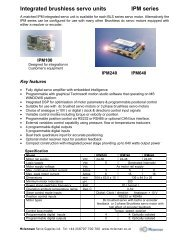 IPM series 30-640W Brushless DC drives - Mclennan Servo ...