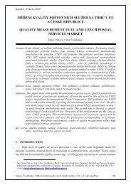 měření kvality poštovních služeb na trhu v eu a české republice ...