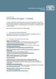 Erneuerbare Energien – Linkliste - WBV Viechtach