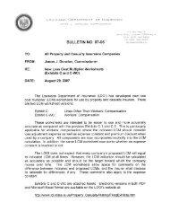 BULLETIN NO. 07-06 - Louisiana Department of Insurance