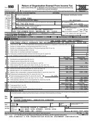 Clear Fund 2008 tax return (Form 990) (PDF) - GiveWell