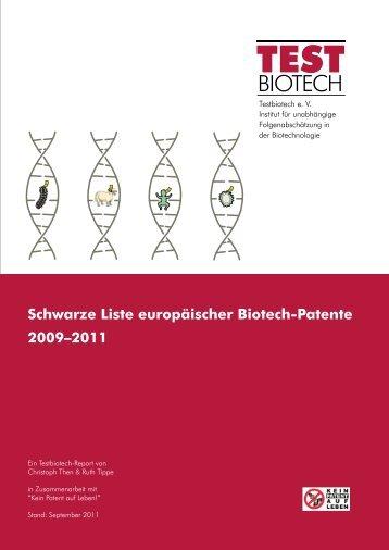 BIOTECH - Kein Patent auf Leben!
