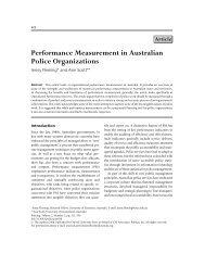Performance Measurement in Australian Police Organizations - ppmrn