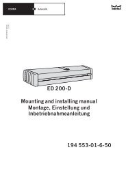 ED 200-D Mounting and installing manual Montage ... - Logo