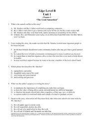 Edge Level B Unit 1 - Division of Language Arts/Reading