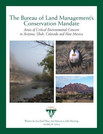 Read the Report 3/1/04 (PDF) - WildEarth Guardians