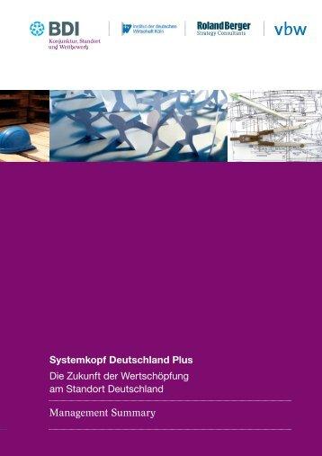 Publikation systemkopf deutschland plus